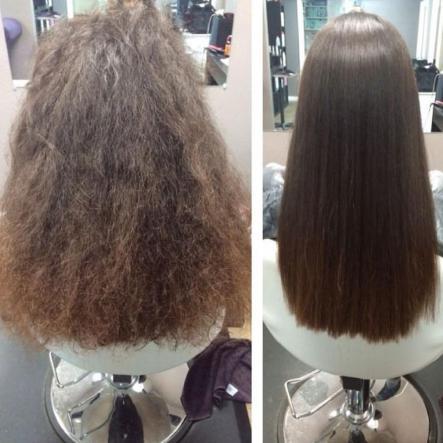 اثر کراتینه کردن مو